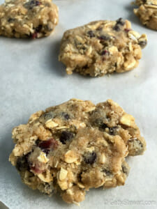 cranberry chocolate chip oat cookie